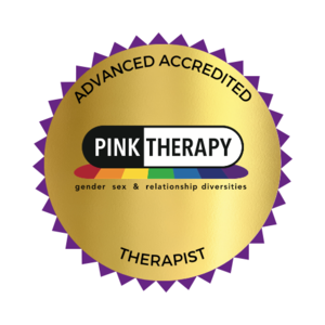 LGBTQ specific therapy . Pink Therapy Accreditation 2021