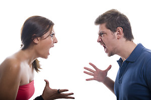 Couples Therapy . Angry couple