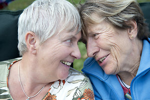 LGBTQ specific therapy . Lesbian couple old